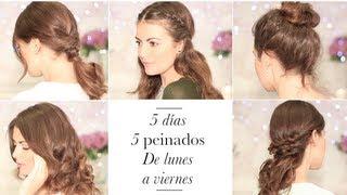 5 peinados fáciles de hacer