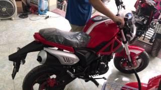 Giá: 21.500.000đ ▶ Tiếng Động cơ Ducati Mini Monster 110 kiểu Minibike hot nhất 2017