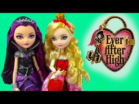 Ever After High Raven Queen Apple White Fairytale Dolls Unboxing Review Cookieswirlc
