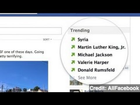 Facebook Testing Trending Topics in Newsfeed