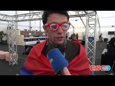 Aram MP3 (Armenia 2014) Interview ESC Radio 2014