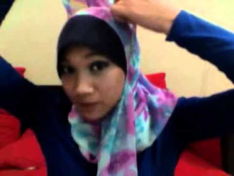 Tutorial Shawl IzwanIzzati - Gaya Simple Dinner Shawl