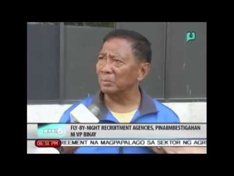 News@6: Fly-by-night recruitment agencies, pinaiimbestigahan ni VP Binay || June 2, 2014