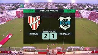 Fútbol en vivo. Instituto - Gimnasia (J). Fecha 19. Torneo Primera B Nacional 2014. FPT.