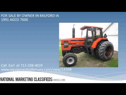 1991 AGCO 7600 FOR SALE BY OWNER IN MILFORD IA 51351