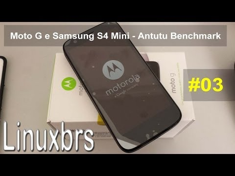 Moto G Motorola XT1033 e Samsung S4 Mini i9192 - Antutu - PT-BR - Brasil
