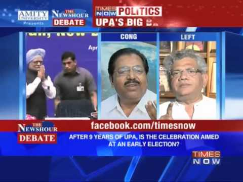 The Newshour Debate: Is UPA's celebration aimed at early elections? (Part 2 of 3)