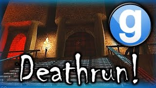 Gmod Deathrun Funny Moments Spooky Mansion Edition! - Dinosaur, Corpse Launches, and Fails!