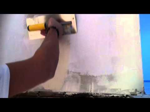 appliquer un enduit de lissage lisser un mur astuce. Black Bedroom Furniture Sets. Home Design Ideas