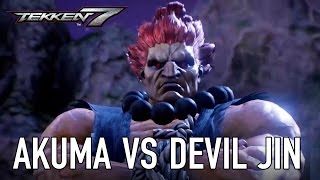 TEKKEN 7 - Akuma VS Devil Jin Gameplay