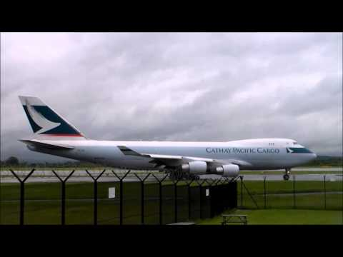Final Cathay Pacific Cargo 747-400F out of Manchester Airport
