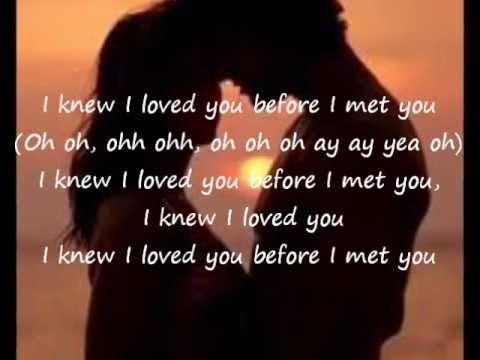Savage Garden I Knew I Loved You Lyrics Youtube