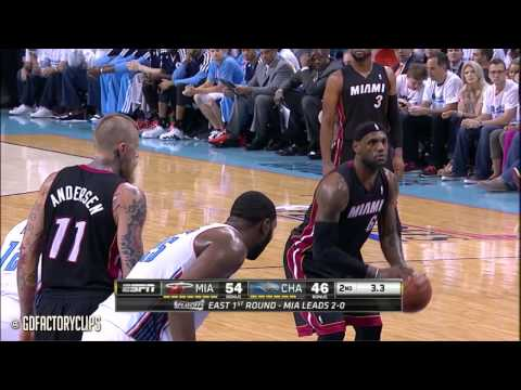 LeBron James Full Highlights at Bobcats 2014 Playoffs East R1G3 - 30 Pts, 10 Reb