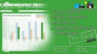 Crear Gráficos Y Gráficas Interactivos En Excel 2010 Con