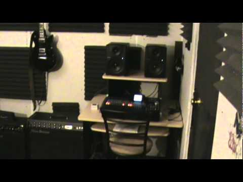 Soundproof home studio music room tour new youtube for Soundproofing a room for music