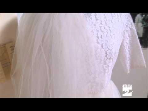 Cerete in mostra abiti da sposa anni '50 '60 '70 Antenna 2 TV 23082013