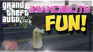GTA V Invincibility Cheat Code Fun! (GTA 5 Funny Moments