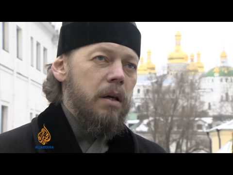 Churches split over Ukraine protests