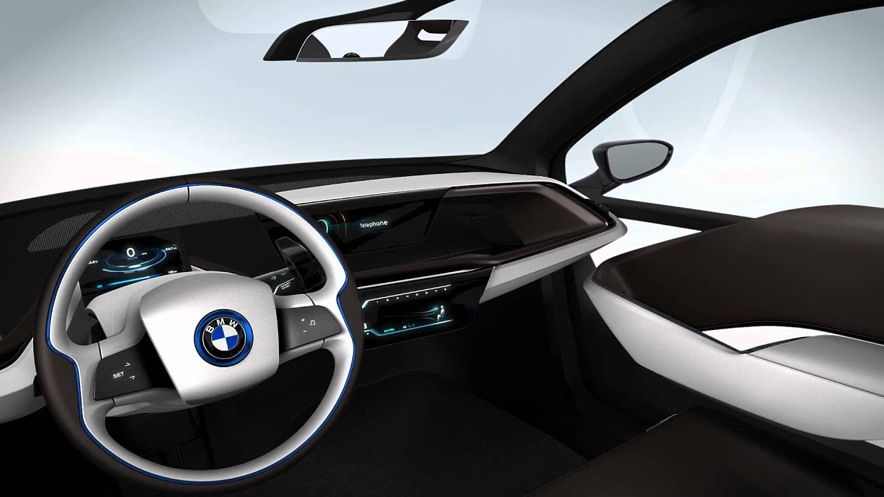 bmw i3 concept the interior of the battery electric vehicle youtube. Black Bedroom Furniture Sets. Home Design Ideas