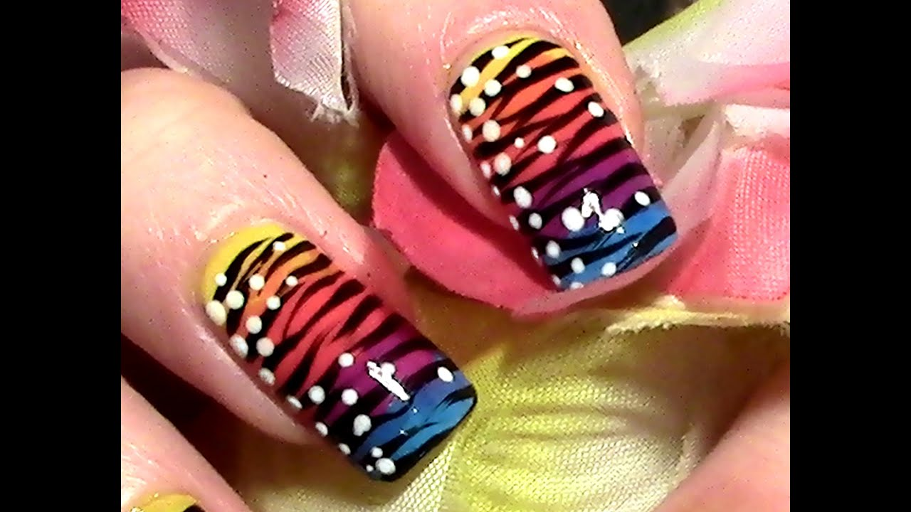 exotic nails nailart selber machen nageldesign. Black Bedroom Furniture Sets. Home Design Ideas