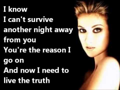 Lyrics of i surrender celine dion