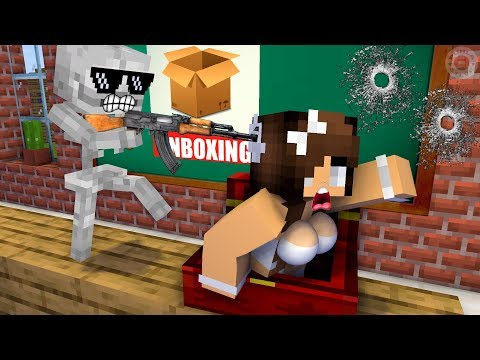 Monster School : Unboxing Present from Herobrine - Funny Minecraft Animation