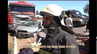 Acidentes deixam tr�s mortos e tr�s feridos neste domingo, na BR-381, em Caet�