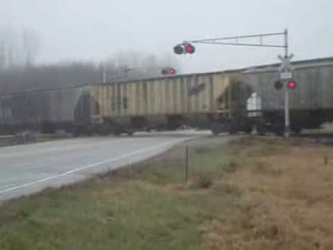 WSOR L355 Eastbound in Juda, WI crossing Highway 11 12/4/13