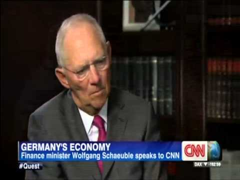 Wolfgang Schaeuble - Europe's Competitiveness, Germany's Strength (CNN, 27Aug13)