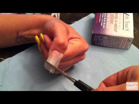 Como hacer uñas de fibra de vidrio