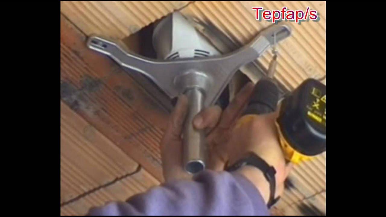 Instalacion de la caja porta foco nel techo de mompesteria - Focos de techo sin empotrar ...