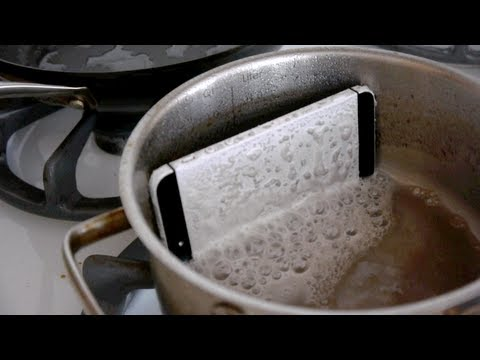 iPhone 5 Dissolves in a Sodium Hydroxide Test - Will it Survive?
