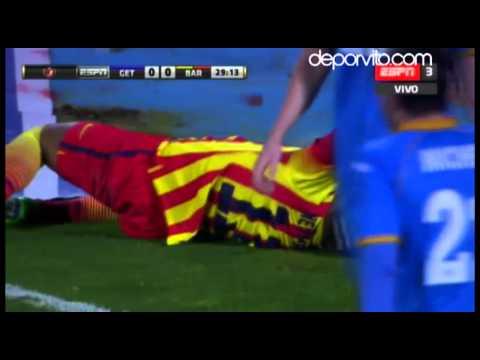Neymar sufre esguince de tobillo ante el Getafe