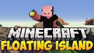 Minecraft Best Seeds - VILLAGE & FLOATING ISLAND | 1.7.4 (HD)
