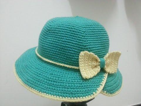 [Crochet Hat] Hướng dẫn móc mũ tiểu thư vành khuyết (note: hai dòng đầu sửa lại là 8x, 8v)