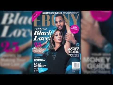 BTS: Carmelo & LaLa Anthony's Cover Shoot for Ebony Magazine - HipHollywood.com