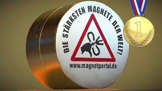 "NEW RECORDS! Testing 6x4"" neodymium magnet"