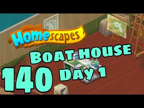 HOMESCAPES - Gameplay Walkthrough Part 140 - New Dock House Day 1 Ending