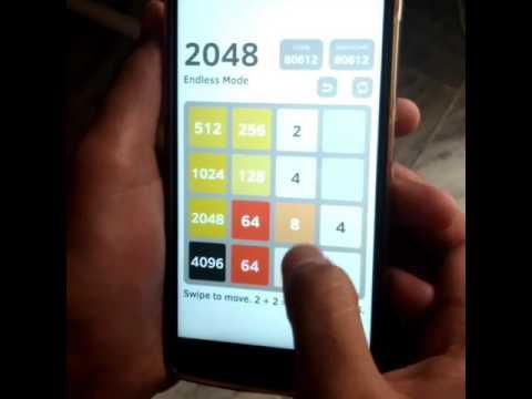 Score 8192 in 2048(Game)