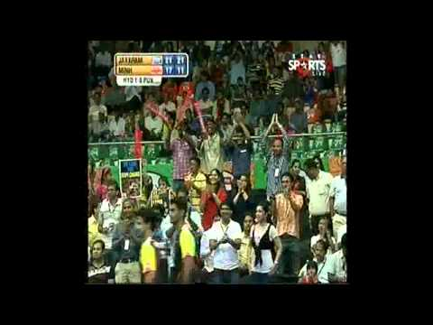 IBL 2013  Hyderabad Hotshots vs pune piston match 1 men u0027s single game 2 1)