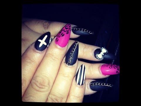 Rockstar Nails Rihanna Nail Designs Video