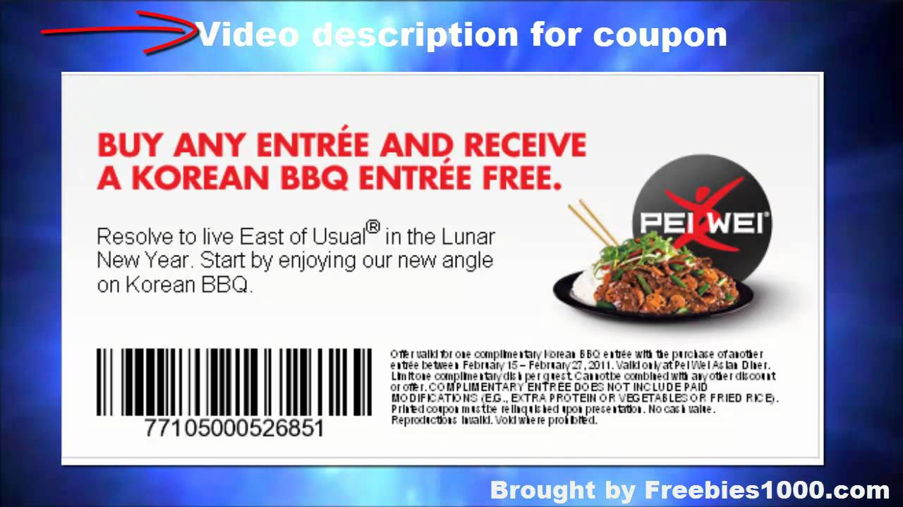 Pei wei coupon code