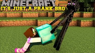 Minecraft: IT'S JUST A PRANK BRO! (SHEEP FOUNTAIN, FAKE DIAMONDS, & TELEPORT DIRT) Custom Command