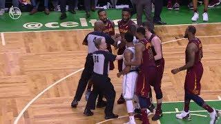JR Smith Flagrant Foul on Al Horford - Game 2 | Cavaliers vs Celtics | 2018 NBA East Finals