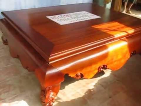 Sập gụ, 1m6 x 2m, dạ trơn , Đồ gỗ Đức Hiền 2013