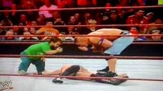 WWE Royal Rumble 2011-Hornswoggle And John Cena Did A