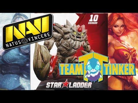 NaVi vs Team Tinker (TT) Star Ladder Star Series Season 10 Dota 2 RUS
