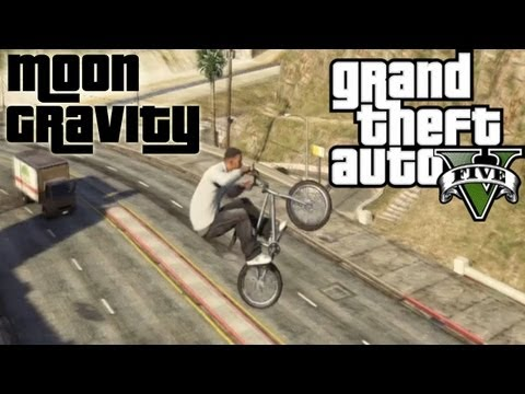 ★ GTA 5 - MOON GRAVITY + BMX = WIN