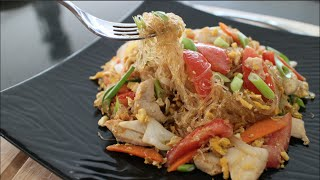 "Glass Noodle Stir-Fry Recipe ""Pad Woon Sen"" ผัดวุ้นเส้น - Hot Thai Kitchen!"