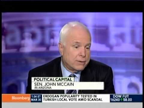 SENATOR JOHN McCAIN ON BLOOMBERG'S POLITICAL CAPITAL WITH AL HUNT 3-30-14